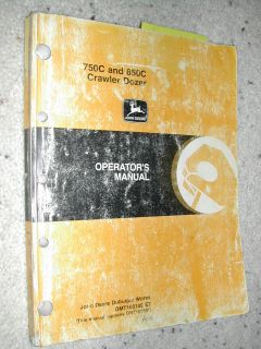 John Deere 750C 850C Operators Manual Crawler Dozer Operation Maintenance JD