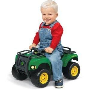 John Deere Sit N Scoot Buck Lights Sounds Ride On Quad Car 4 Wheeler Toddler NEW