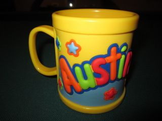 NEW John Hinde Plastic Trainers Drink Cup Mug Kids Personalized Name AUSTIN