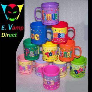 Personalised Plastic Mug Cup John Hinde UK Named Girls H Z