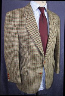 Mens John Lord Classic Country Check Harris Tweed Jacket 40R REF216