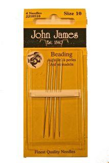 John James Sewing Beading Needles Size 10 12 or 13 You Choose