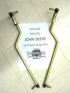 John Deere La 100 Series Drag Link Set Fits LA100 LA105 LA110 GY21250 GY21251