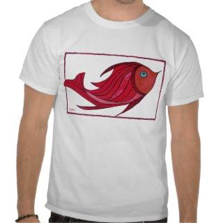 Raul Red Fish Kid's T Shirt from Zazzle