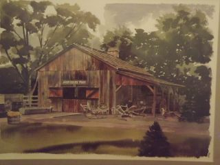 Paul N Norton John Deere Shed Print