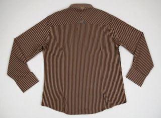 ENGLISH LAUNDRY New NWT JOHN LENNON Brown Stripes Paisley PARKS Dress Shirt XL