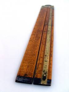 RARE ANTIQUE VICTORIAN J W MITCHELL ROUTLEDGE ENGINEERS RULE GUNTER SLIDE RULER