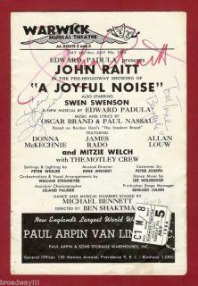 """John Raitt """"A Joyful Noise"""" Tommy Tune 1966 Signed Flop"""