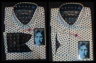 Mens Dress English Laundry John Lennon Shirt Polka Dot White Size XXL 2XL New