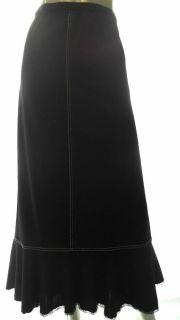 John Paul Richard Uniform Woman Plus 3X Stretch A line Mid Calf Skirt Striped