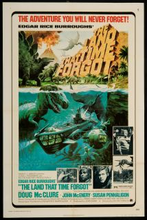 The Land That Time Forgot 1975 Original U s One Sheet Movie Poster