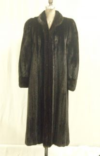 Beautiful Ranch Mink Fur Coat Female Skins John Ross Label Size 6 8 Furs Coats