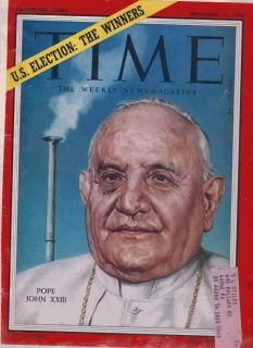 TIME News Magazine Pope John XXIII US ELECTION WINNERS Cover Vol LXXII No 1 1958