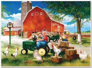 John Deere 1000 Piece Jigsaw Puzzle Growing Up Country
