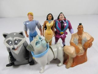 Disney Pocahontas Meeko John Smith Percy Cake Topper Figure PVC Party Toy Lot