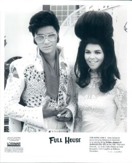 1990 Actors John Stamos Lori Loughlin Elvis Priscilla TVs Full House Wire Photo