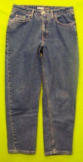 St John's Bay Classic Fit Sz 12P Petite Womens Blue Jeans Denim Pants GO34