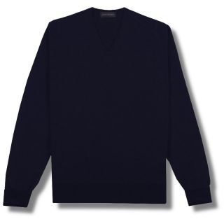 John Smedley Pure Merino Wool V Neck Pullover Jumper