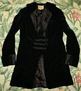 Vtg 1920s Black Velvet John Wanamaker Tuxedo Blazer Smoking Jacket Small S
