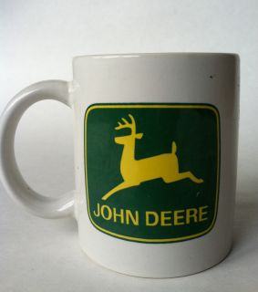 Gibson John Deere Coffee Mug Cup Green Yellow Deer Used Collectible