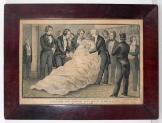 1848 President John Quincy Adams Currier Ives Hand Colored Print