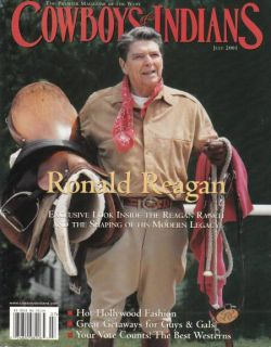 Ronald Reagan Willie Nelson Cowboys Indians Magazine July 2001 President