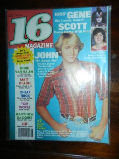16 Teen Magazine 1981 May Rex Smith Catherine Bach Matt Dillon Kiss