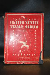 The United States Stamp Album by John w Nicklin 1936 Hardcover Album w Pages