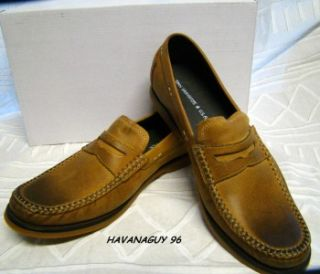 John Varvatos Star USA Command Light Brown Leather Loafers US Size 7
