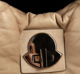 """New MONCLER """"A Porter"""" Gorgeous Lambskin Leather Hobo Bag"""