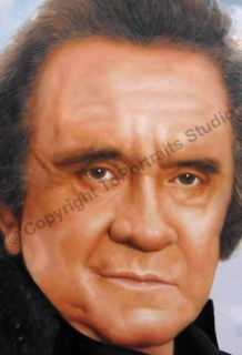 Johnny Cash Legend Singer Original Canvas Oil Painting