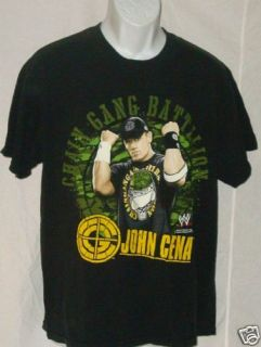 John Cena Chain Gang Battalian Black Shirt Adult Large
