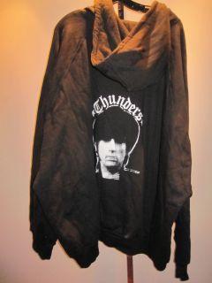New Johnny Thunders Zip Hoodie Thermal Hooded Sweatshirt Jacket Big Mens 8XL