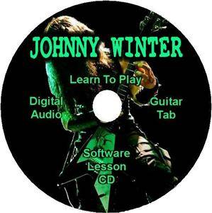 Johnny Winter Guitar Tab Lesson Software CD 14 Songs