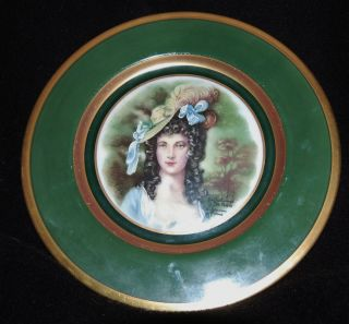 Victorian Woman Dutch Holland Plate Signed by Jon Peters