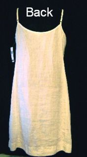 Eileen Fisher White Linen K L Cami Dress w Pleats M