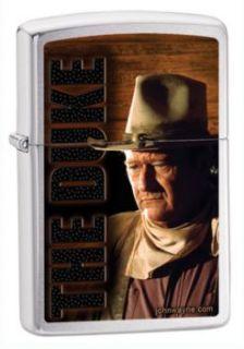 Zippo John Wayne Brushed Chrome Windproof Lighter 200 025778