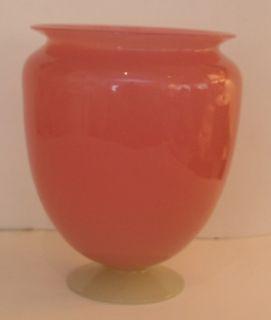 Carder Steuben Pink Rosaline Alabaster Glass Tall Bolbous Vase
