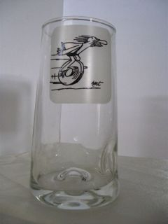 Comic Cartoon Glass Dimpled Tumbler Johnny Hart Clear Glass 10 Ounce