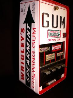 Vtg Wrigley's Gum Vending Machine Coin Op Vendor Store Display Dispenser Sign