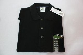 New Men's Lacoste Navy Black White s M L XL Short Sleeve Polo Oversized Big Croc