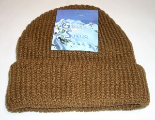 Grand Sierra Mens Beanie Knit Cuff Hat Cap Winter Hunting Skiing Snowboard New