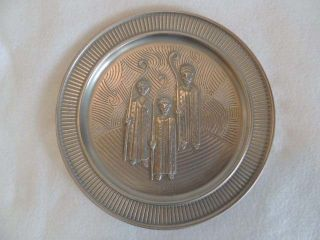 1973 Pewter SELANDIA CHRISTMAS PLATE Norway Three Wise Men Gulbrandsrod