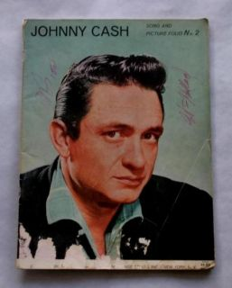 JOHNNY CASH SONG AND PICTURE FOLIO NO 2 Autographed