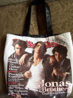 Jonas Brothers Rolling Stone Tote Bag