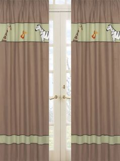 Sweet JoJo Designs Jungle Adventure Kid Window Treatment Panels Curtain Covering