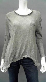 Jonathan Simkhai Wire Tee Ladies Womens M Soft Crew Neck Pullover Sweater Gray