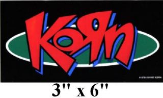 Korn Logo Jonathan Davis Vinyl Bumper Sticker Decal New