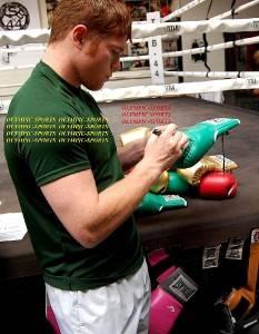 SAUL CANELO ALVAREZ SIGNED WBC CLETO REYES LIMITED EDITION BOXING GLOVE COA RARE