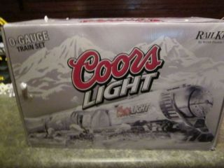 MTH Railking Coors Light Silver Bullet Train Set Model 30 1433 1